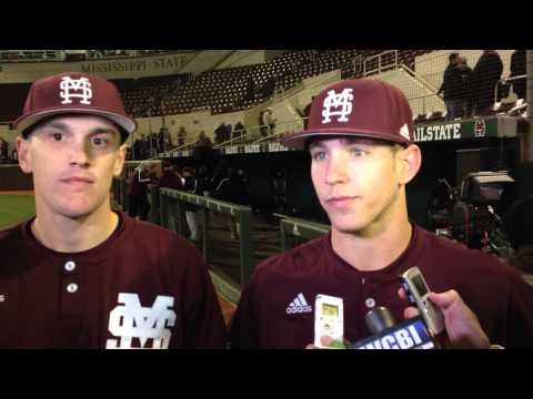 MSU catcher Josh Lovelady, second baseman John Holland