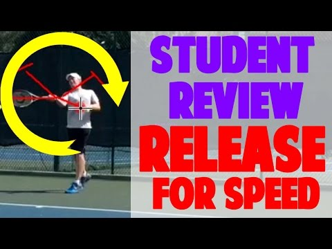 Tennis Forehand Release - Get Easy Speed w/ This Web Student Review
