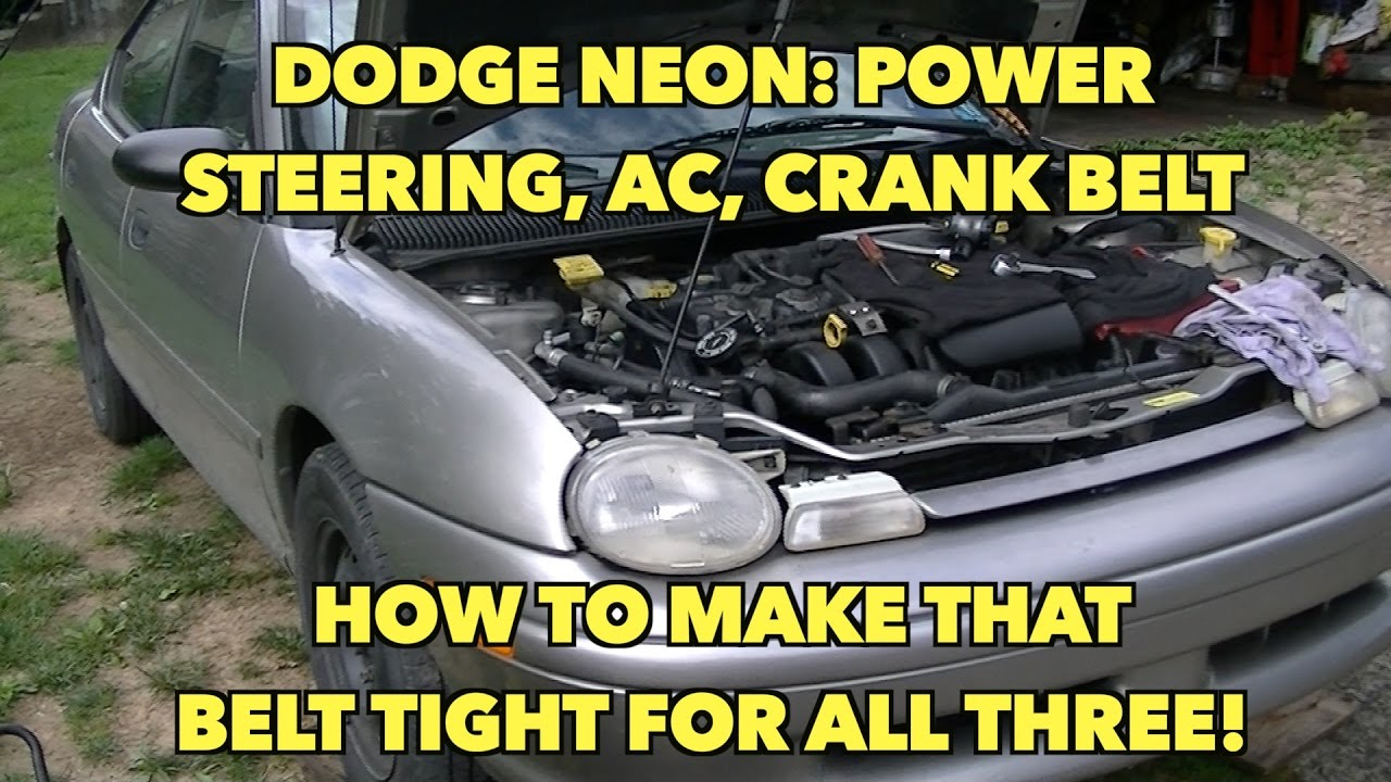 dodge neon 2 0 power steering belt how to tighten it and keep it from jumping off  [ 1280 x 720 Pixel ]