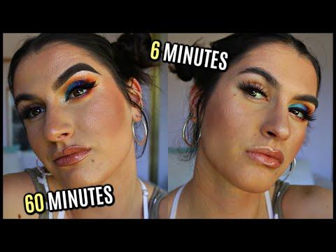 60 MINUTE VS. 6 MINUTE Makeup Challenge thumbnail