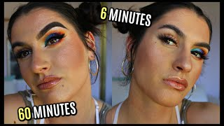 60 MINUTE VS. 6 MINUTE Makeup Challenge