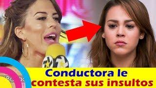 La conductora AS� LE CONTESTA los INSULTOS a Danna Paola (v...