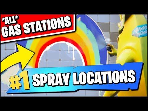SPRAY DIFFERENT GAS STATIONS *ALL LOCATIONS* (Fortnite Spray & Pray Season X Week 2 Challenges)