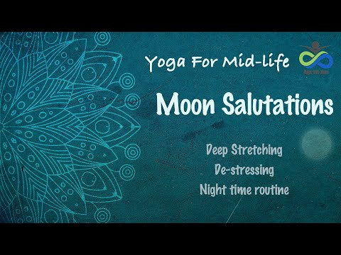 Moon Salutations | 5 minute Yoga Sequence | Night Time Deep Stretching Yoga