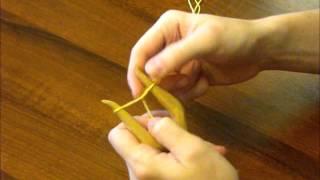 Плетение шнура на вилочке