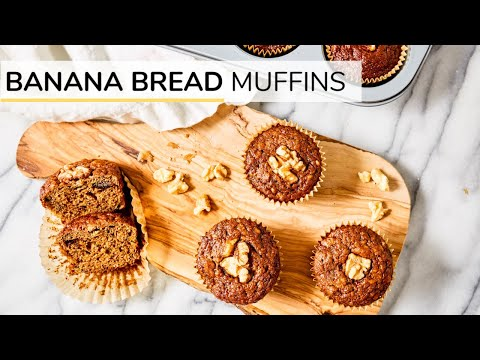 BANANA BREAD MUFFINS | easy healthy recipe