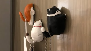 지점토로 고양이 지능테스트 자석만들기 │ 마스크걸이 냉…