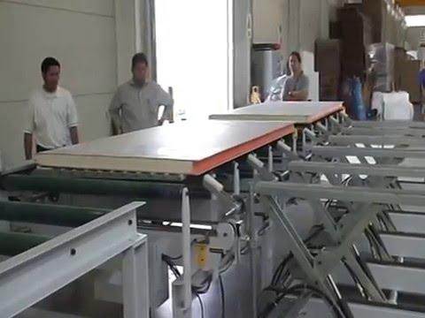 PU Foam Sheets Cement Sandwich Panel Injection Caterpillar Production Line