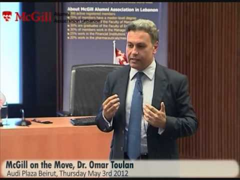 McGill on the Move 2012, Dr. Omar Toulan in Beirut - Lebanon.