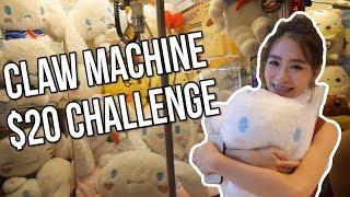 $20 Claw Machine Challenge | Arcade Ninja (Cow Play Cow Moo)