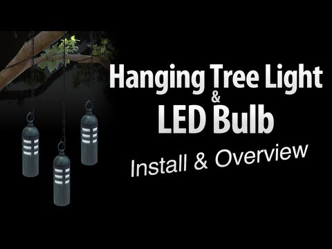 Hanging Tree Light & LED Light Bulb Install & Overview By Total Outdoor Lighting
