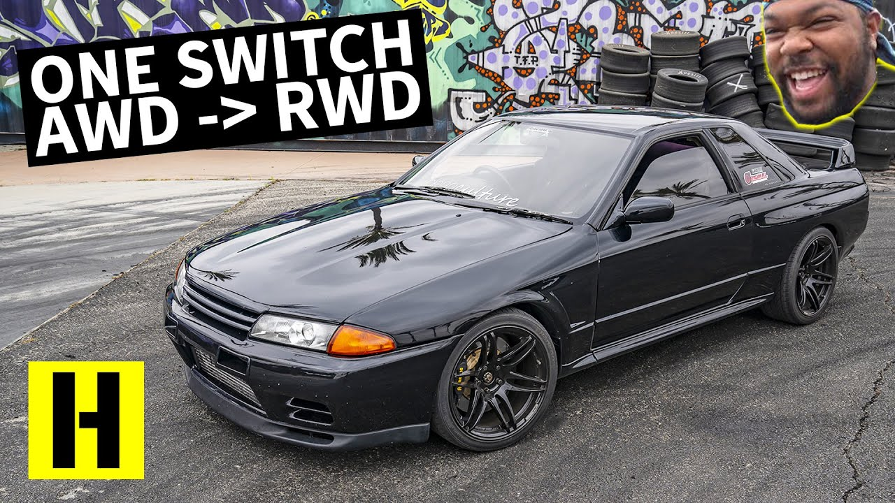 750hp R32 GTR Switches From AWD to RWD!! Shredding The Original Godzilla
