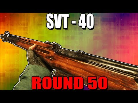 SVT-40 ON ROUND 50 - CALL OF DUTY WW2 ZOMBIES