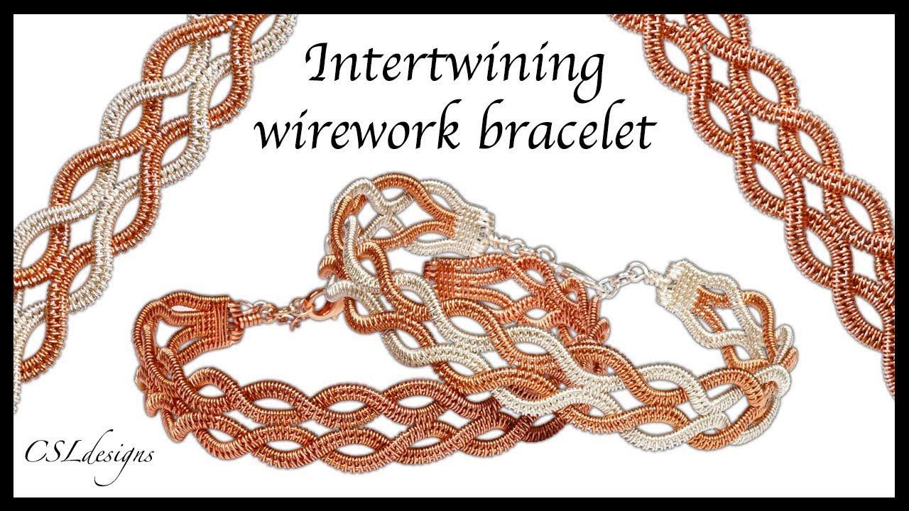 Intertwining wirework bracelet - YouTube