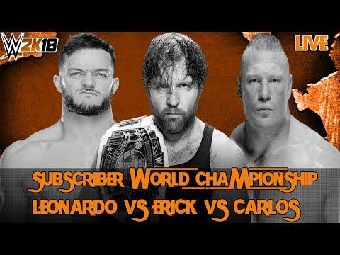 WWE 2K18 - Simulação dos Inscritos - Combates por Titulos e Desafios!! - AO VIVO