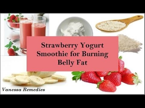 Natural Home Remedy For Burning Belly Fat - Strawberry Yogurt Smoothie