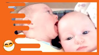 Cute Twins Babies Fighting -  Funny Babies Videos