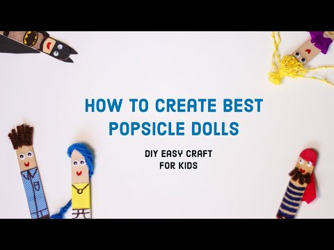 Popsicle Sticks Dolls - Latest Kids Crafts - How to create Funny Dolls - DIY