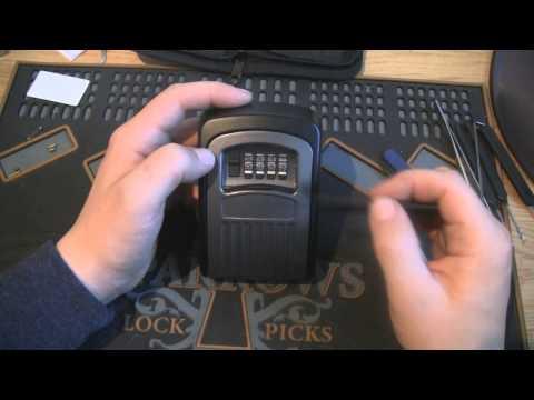 Biltema Nøkkelskap (Master lock Keycabinet) decoded in 1 min.