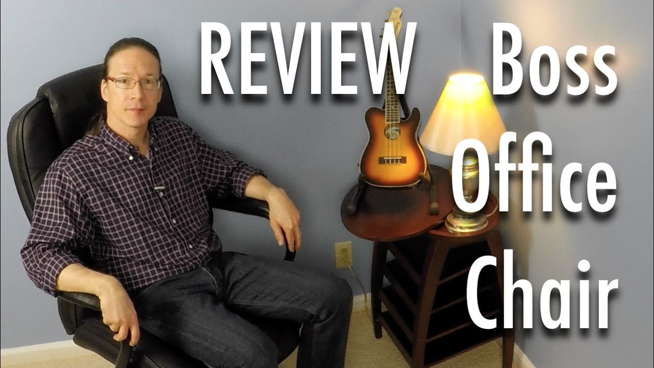 Review: Boss Heavy Duty Executive Office Chair   YouTube