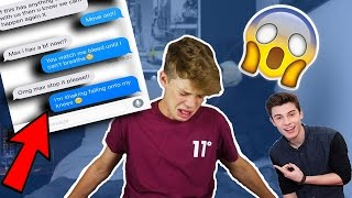 One of Max Ragan's most viewed videos: SONG LYRIC TEXT PRANK ON MY EX! (GOES WRONG) Stitches - Shawn Mendes