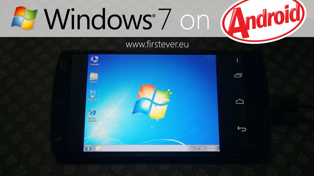 The first ever windows 7 on android phone nexus 5 youtube ccuart Gallery