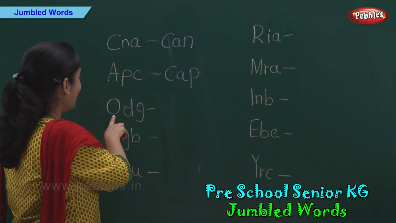 Jumbled Words | Spellings | Jumbled Words For Kids | Pre School Kindergarten