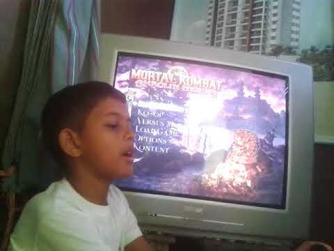 jogando Mortal kombat shaolin monks