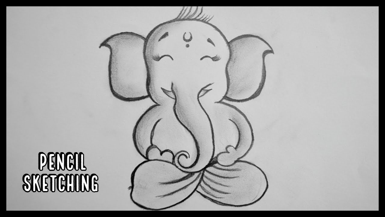 Ganesh Ji Drawing How To Draw Ganesha Step By Step Drawing For Kids Bal Ganesh Youtube
