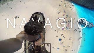 Climbing the shipwreck on Navagio beach! - Greece Files Ep 1