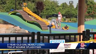 2-year-old girl almost loses toe at Cape Cod park