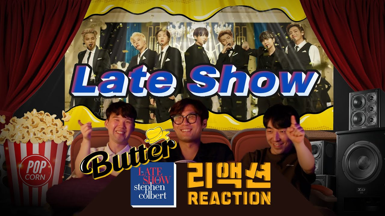 [ENG SUB] BTS The late show with Stephen Colbert 'Butter' l BTS 더 레이트쇼 '버터' 리액션🎬 [이유있는 영화관]