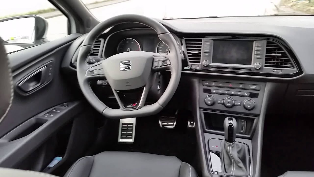 Seat leon cupra 290 interieur modelljahr 2016 youtube for Interieur seat ibiza cupra