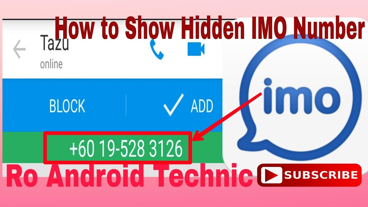 How to Show IMO Contacts Numbers   How to Show Hidden IMO Number in IMO    Watch full Video to know