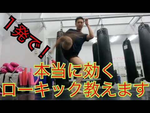 キックボクシング『ローキックの蹴り方と効かすローキック』解説してみりん