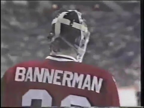Murray Bannerman Swings Stick at Gretzky - May 7,1985