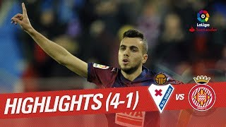 Resumen de SD Eibar vs Girona FC 4-1