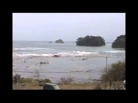 Timelapse of Tsunami in Rikuzentakata, Iwate Prefecture, Japan