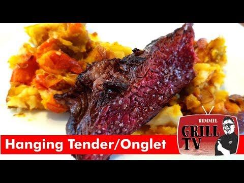 """Koch vs. Griller"": Onglet/Hanging Tender mit Herbstgemüse by Patrick Jabs -Rummel grill TV"