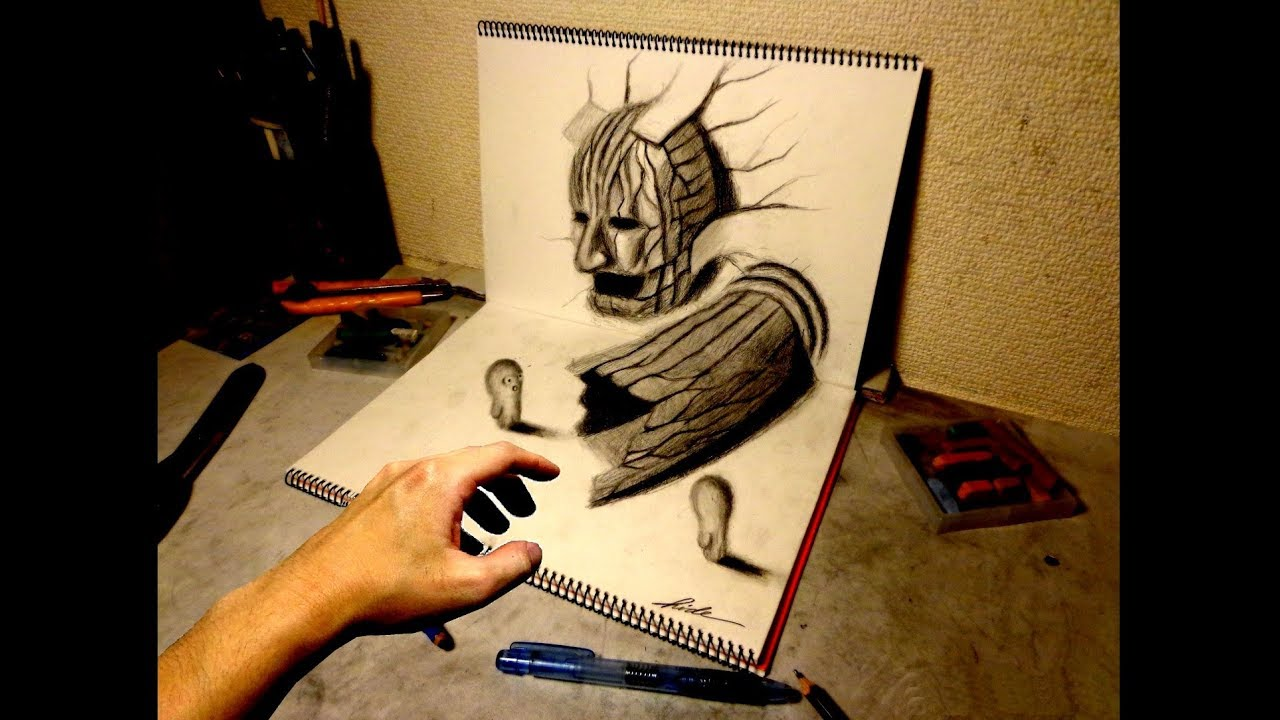 Speed Drawing 19 How To Draw 3d Art 3d Youtube