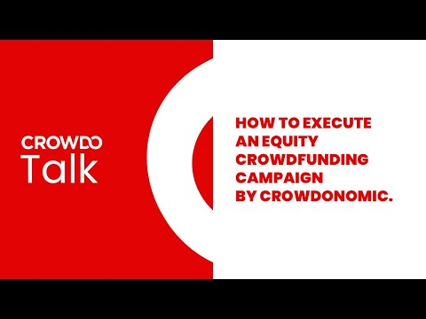 How to execute an equity crowdfunding campaign by Crowdonomic