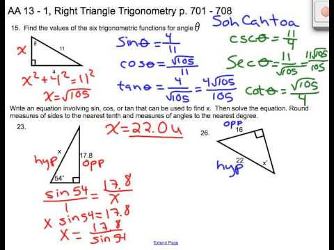lesson 13 1 right triangle trigonometry youtube. Black Bedroom Furniture Sets. Home Design Ideas
