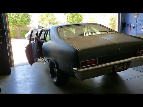 CHEVY NOVA COLD START 3 INCH EXHAUST AND DYNOMAX BULLETS