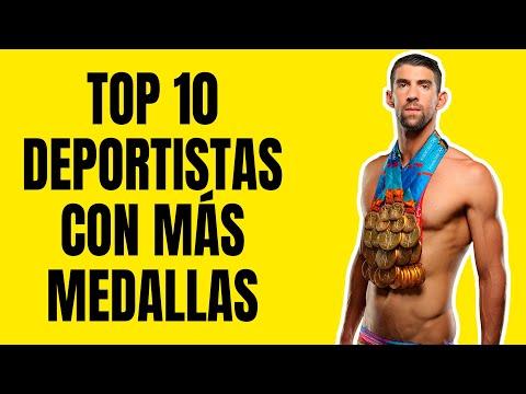 Top 10 Deportistas Con Más Medallas Olímpicas En Toda La Historia 💪🥇