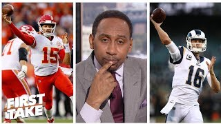 Stephen A. tabs Patrick Mahomes over Jared Goff as top young QB | First Take