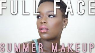 Sacha Full Face | Summer Makeup for Dark Skin