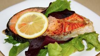 Стейк из лосося. Как приготовить красную рыбу. Как жарить лосось. Моя Dolce vita