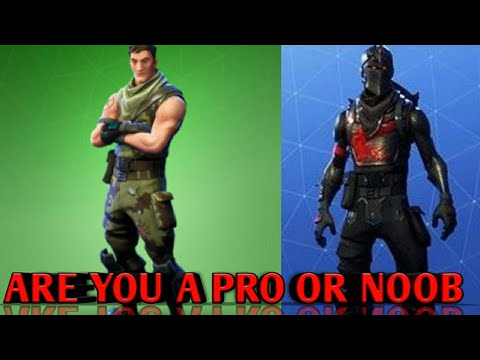 Are You A Noob Or A Pro Fortnite Quiz Youtube