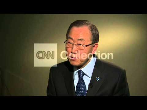 UN SECY GEN BAN KI-MOON ON SYRIAN NEGOTIATIONS