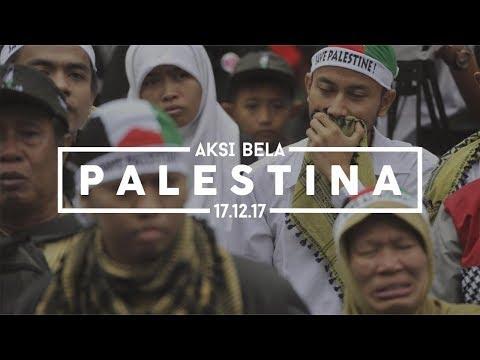 FILM DOKUMENTER AKSI BELA PALESTINA BIKIN MERINDING, MONAS - JAKARTA 17....